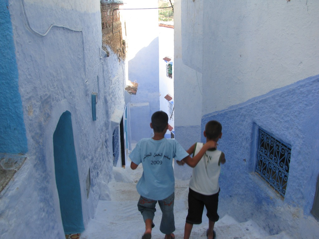 Two boys. Chefchaoen, Morocco.
