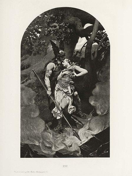 Wotan_takes_leave_of_Brunhild_(1892)_by_Konrad_Dielitz
