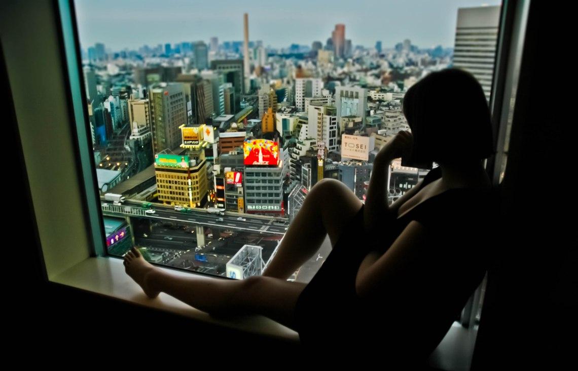 Tokyo  window ledge