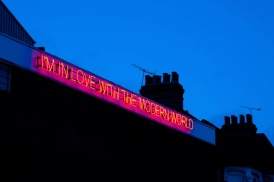 Walthamstow Neon Art Sculpture. About Neon Art and Loneliness http://wp.me/p41CQf-aU