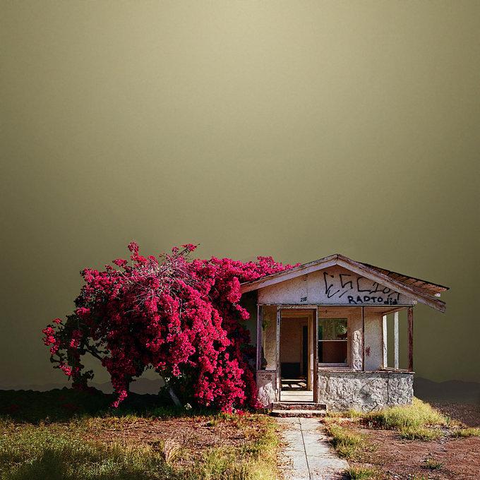 Abandoned Desert Buildings On Creepy Lunar Landscapes