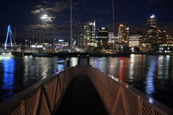 The Bridge in Wynyard Quarter in Auckland CBD. Looks lovely during the night and the day time too