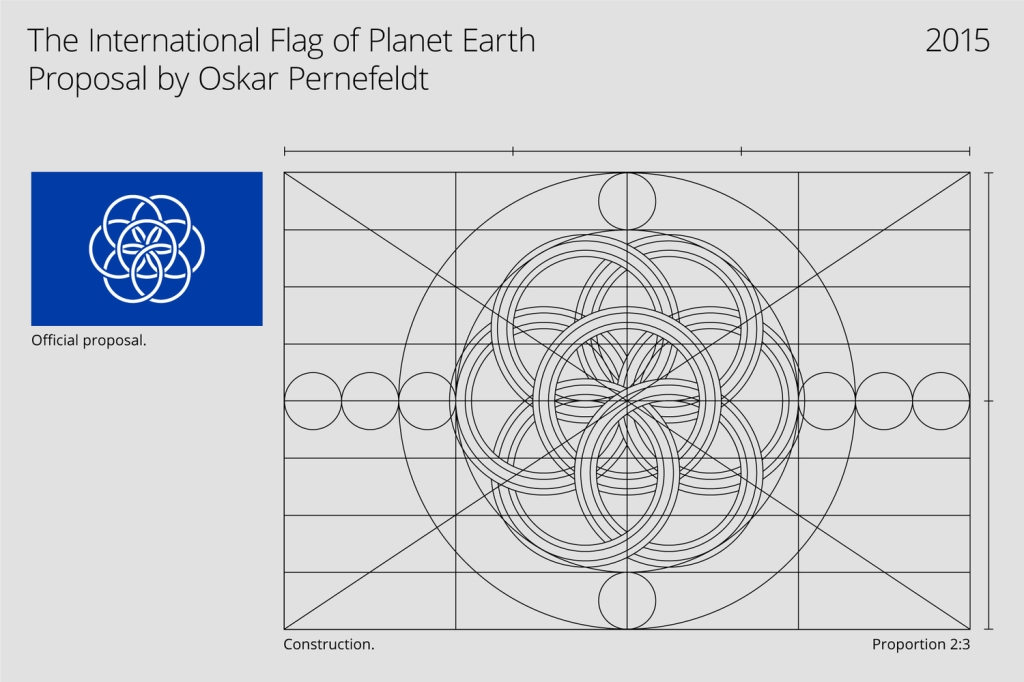 A Beautiful Proposed Flag for Planet Earth (and also New Zealand's new flag)