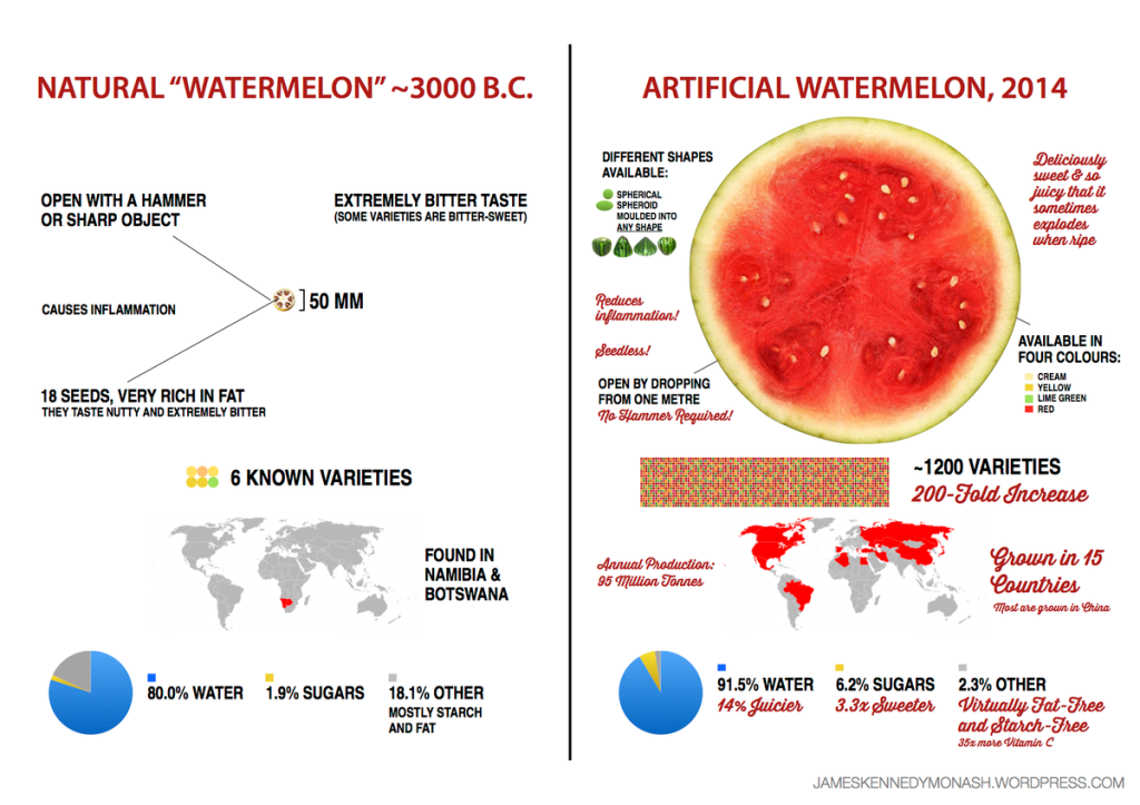 A watermelon is never simply a watermelon