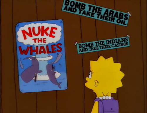 Signs O'The Times in The Simpsons