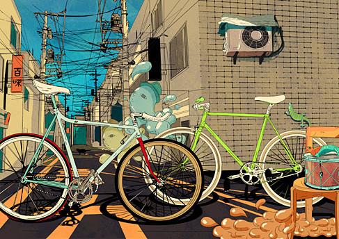 bike,color,illustration,bikes,colors,fixedgear-b3e5a4234f33d37387c1329f913425f9_h