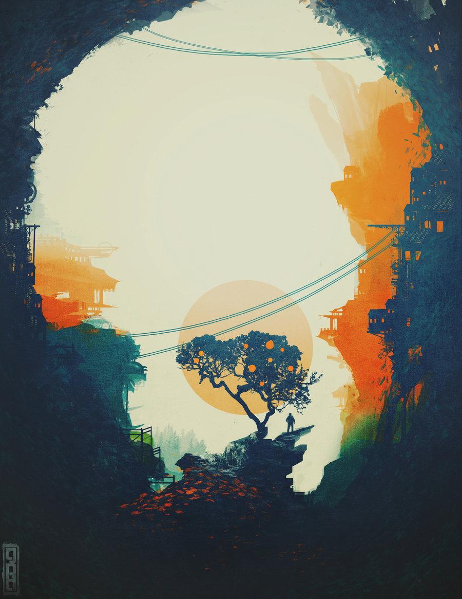 Orange tree by Tavener Scholar