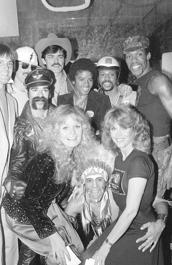 The Village People and Michael Jackson at Studio 54