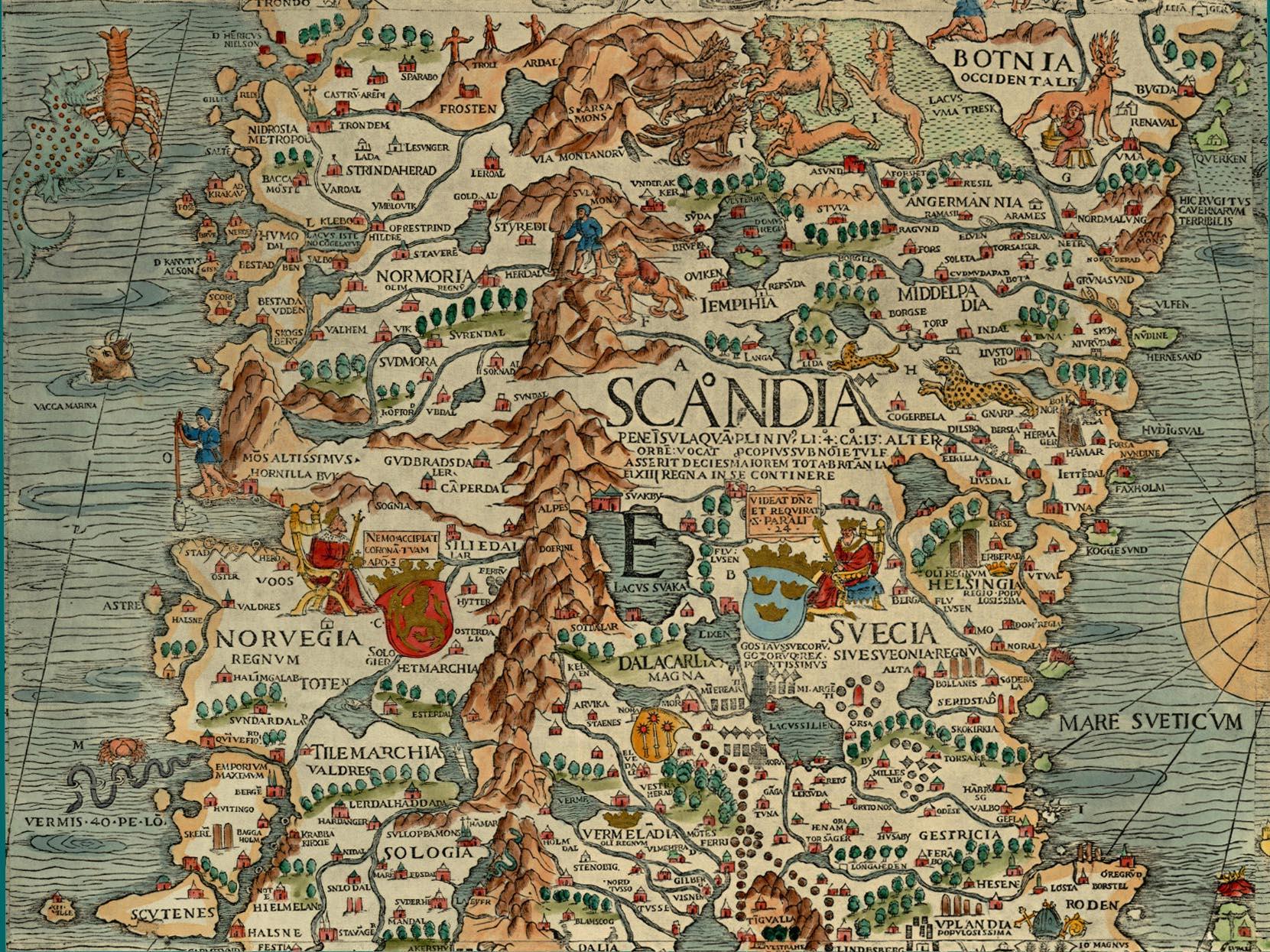 the viking imagination medieval cartography of scandinavia