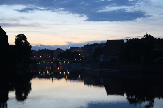 Cycling adventures at dusk in Wrocław