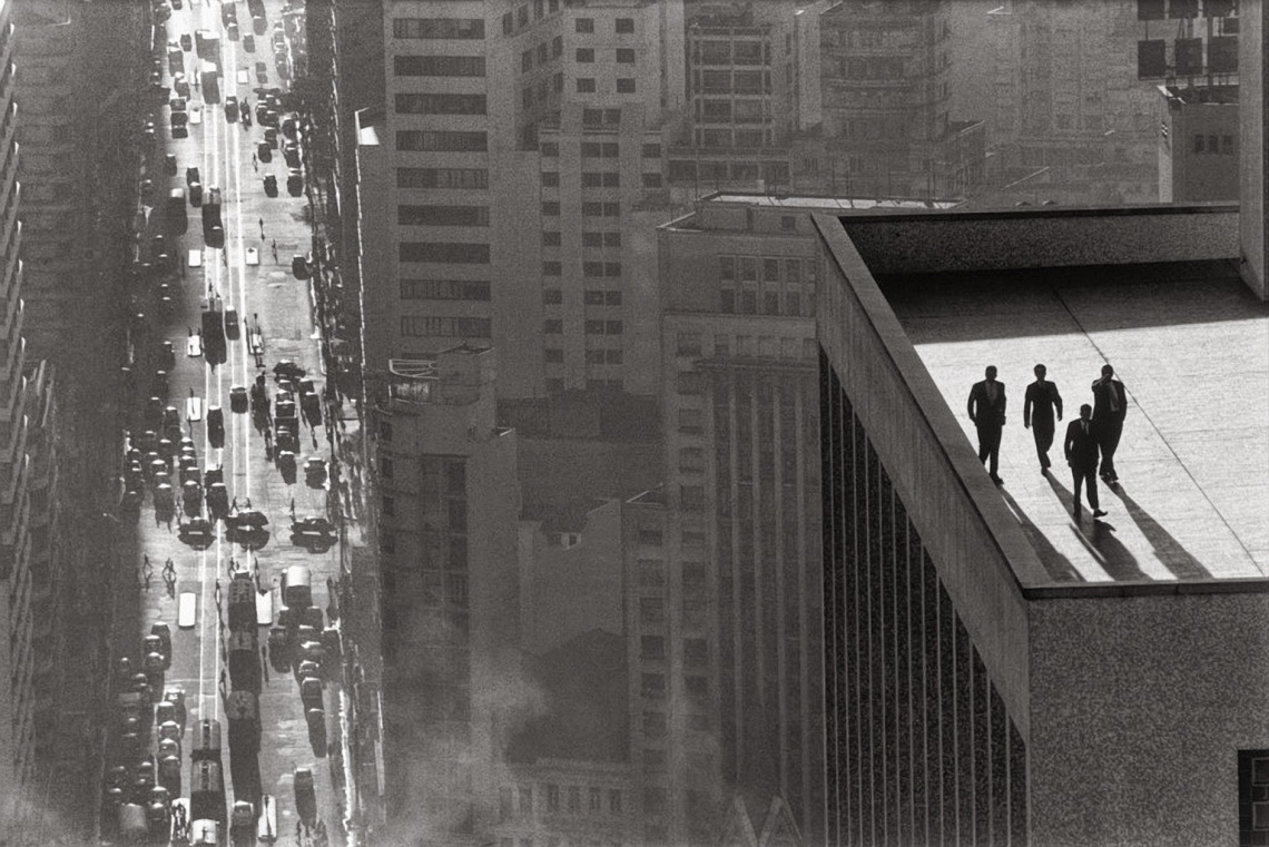 Every Picture Tells A Story: Four Men on a Roof