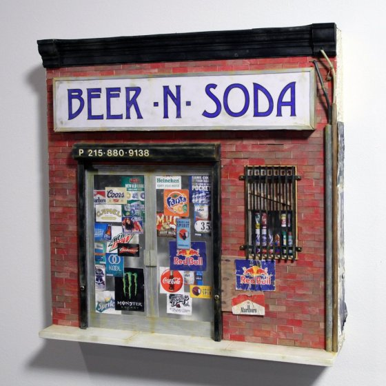 Drew Leshko's dollhouse replicas of vanishing Philadelphia streets