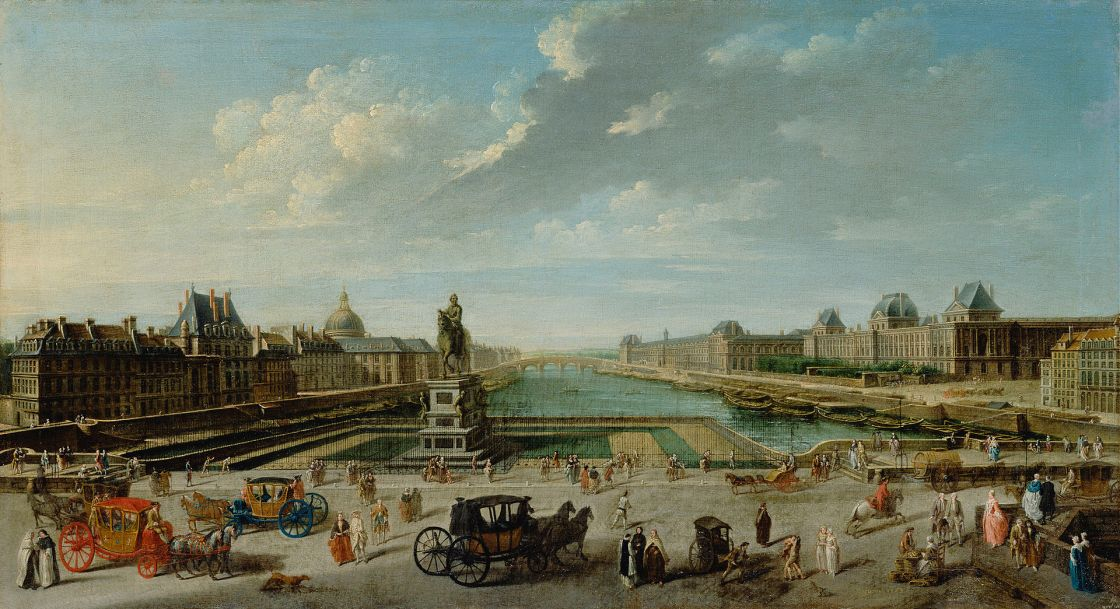The Pont Neuf in 1763, by Nicolas-Jean-Baptiste Raguenet