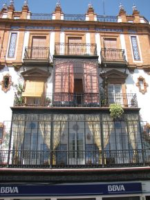 The terrace houses of Sevilla, Spain